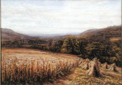 Harvest Time Près Ashburton de Edmund George Warren (1834-1909, United Kingdom)