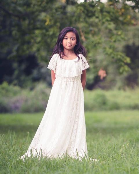 13f89e6b3 Delphine Dress in White Lace in 2019 | White Flower Girl Dresses ...