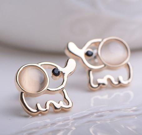 Elephant Rhinestone Earrings