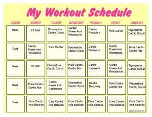 weight loss exercise schedule