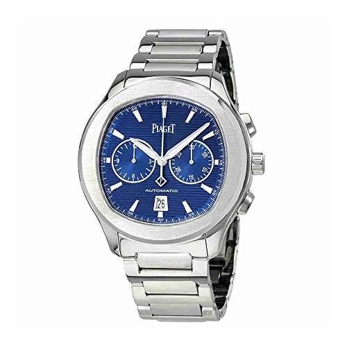 http://ift.tt/2rD3w9n Check Price https://goo.gl/jKed50  Piaget Polo S Automatic Chronograph Blue Dial Mens Watch G0A41006                            Stainless steel case with a stainless steel bracelet. Fixed stainless steel bezel. Blue guilloche dial with silver-tone hands and index hour markers. Minute markers around the outer rim. Dial type: analog. Luminescent hands and markers. Date display at the 6 o'clock position. Two sub-dials displaying: 30 minutes and 12 hours. Piaget calibre…