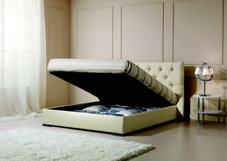 FACILE JUBILEE is the storage bed of your dreams. So much more space in your bedroom!  Sweet dreams are made of this! www.oggioni.it