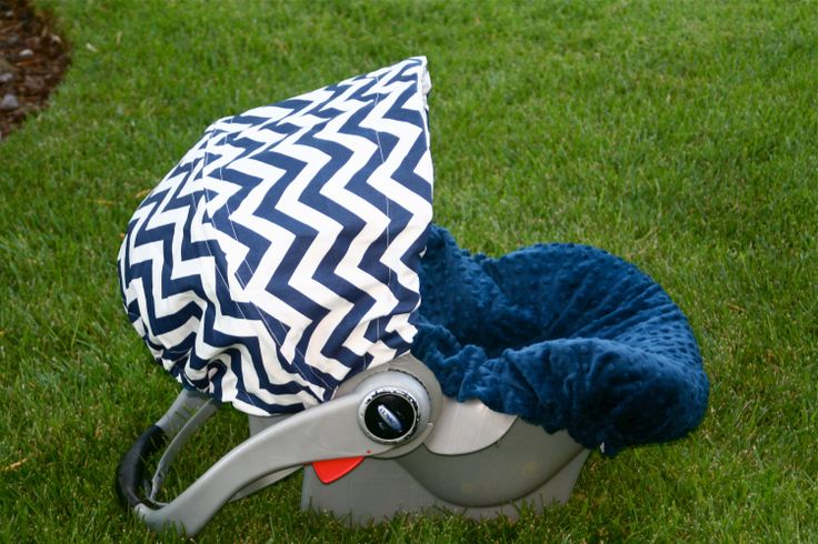 Infant Car Seat Cover Baby Car Seat Cover in Navy by ChubbyBaby, $65.00