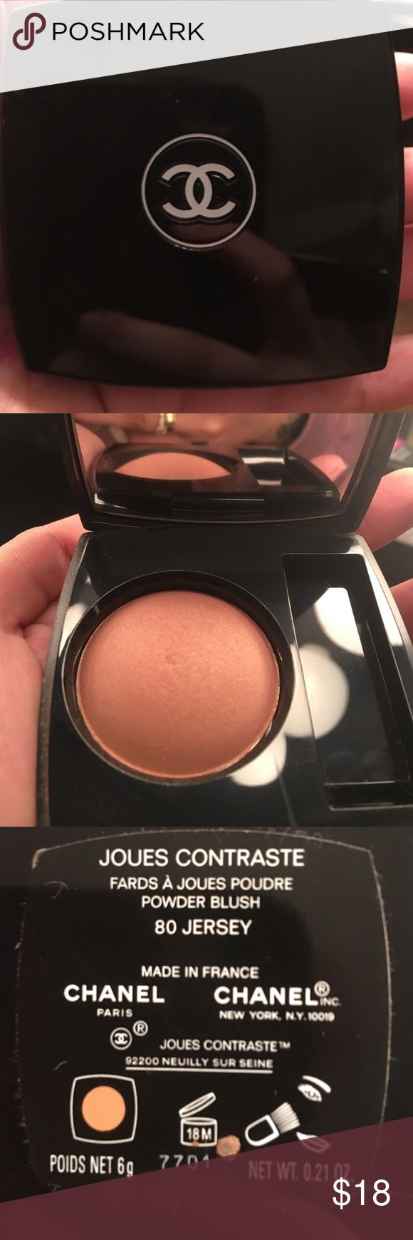 Chanel blush Very pretty Chanel blush (yes it is real Chanel) I bought from Bloomingdales Macy's. CHANEL Makeup Blush