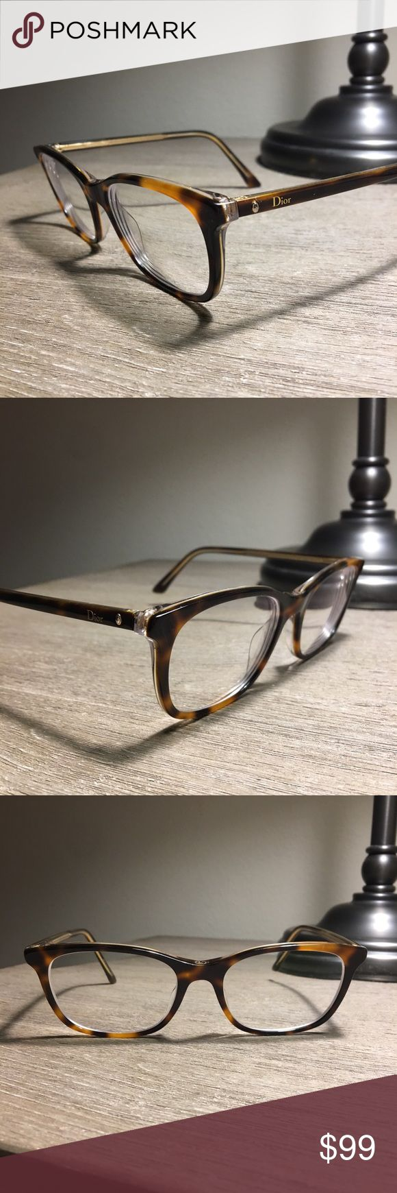 🌼🍃Christian Dior eyeglasses New condition genuine Christian Dior tortoise eyeglasses. You will receive SO many compliments in these! Contains my prescription - you will need to replace with your own. Christian Dior Accessories Glasses