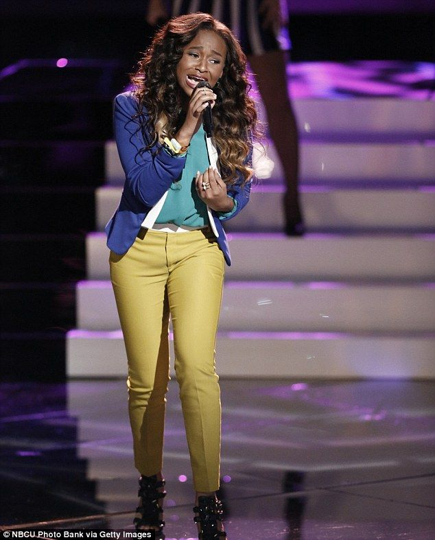 Teen talent: Shalyah Fearing took on My Kind Of Love and received a standing ovation