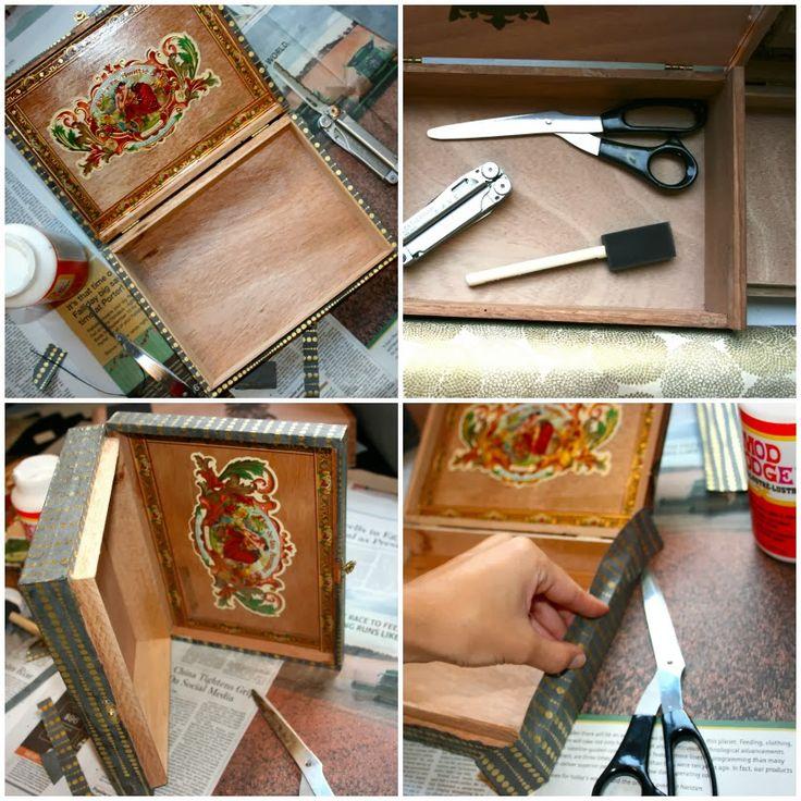 Oy noel diy cigar box jewelry box oy pinterest for Diy box crafts