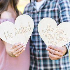 Engagement Sign Photo Prop