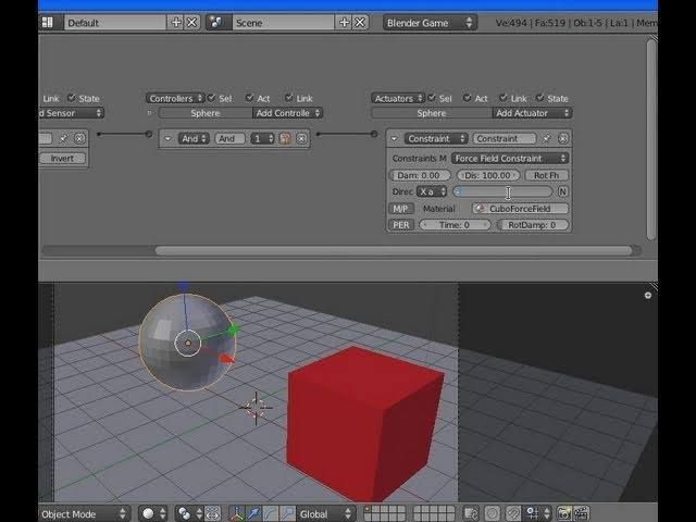 L'attuatore Constraint Force Field per gravità o forze repulsive nel Blender GE 2.5 (sott.) - #Attrazione #Blender25 #Blender3D #BlenderGe #CampoDiForza #ConstraintActuator #ForceField #GameEngine #Gravità #MotoreDiGioco http://wp.me/p7r4xK-em