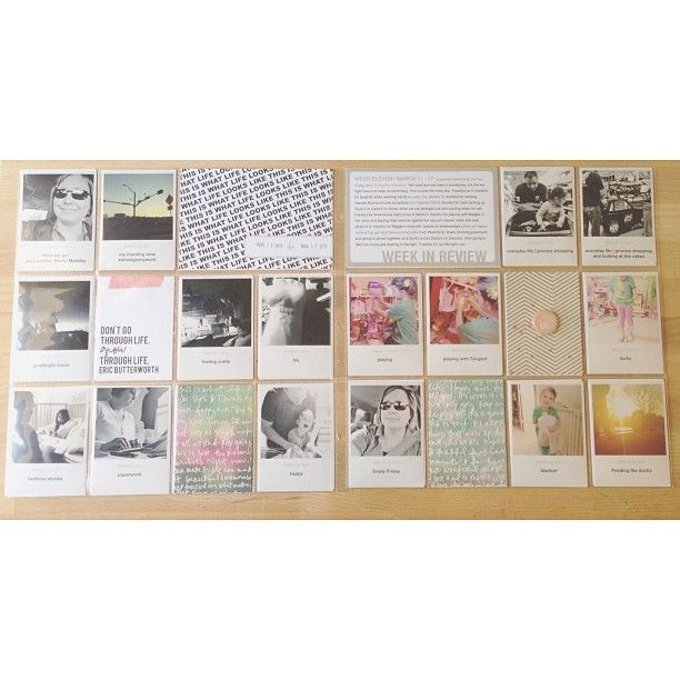 Here's the full spread. Week 11 #projectlife by Annette Haring