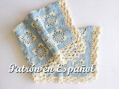 Patrón de Manta de bebé tejido a crochet patron a por CasitadeLana