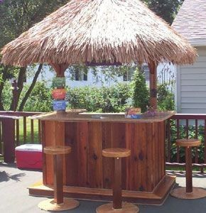Build your own tiki bar.
