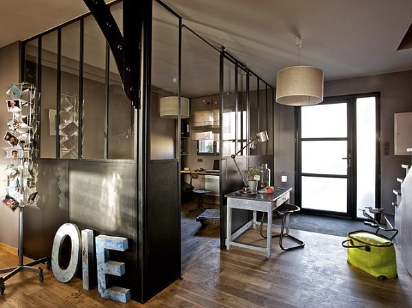 homeInteriors Wall, Offices Design, Offices Spaces, Deco, French House, Industrial Offices, French Home, Bureau, Home Offices