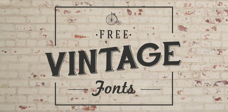 Neat fonts but no longer free...Font Must-Haves 004: Free Vintage Fonts