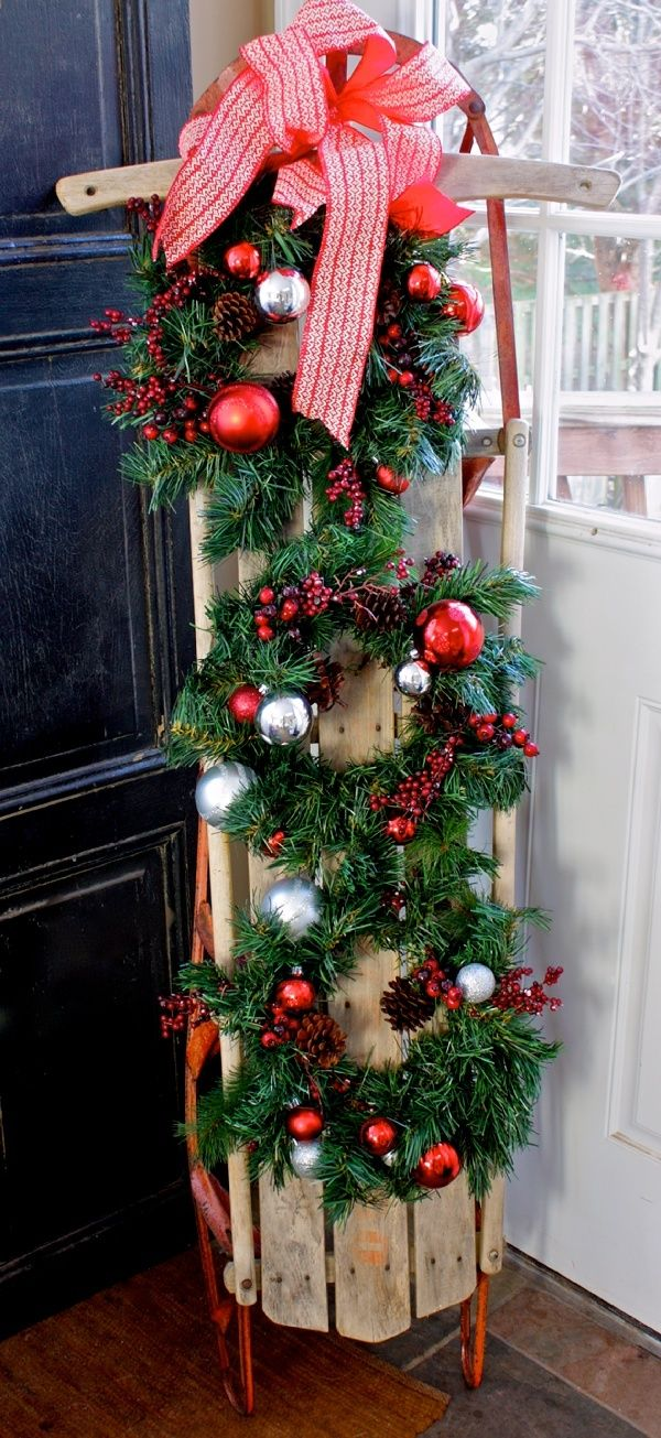 102 best images about christmas sleds on pinterest for Antique sled christmas decoration