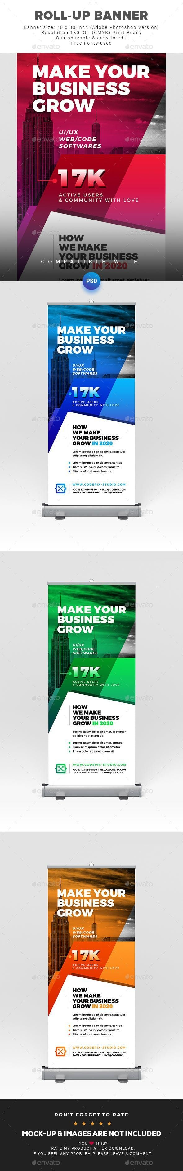 Roll-Up Banner #GraphicDesign #GraphicRiver #template #SignageDesign #marketing