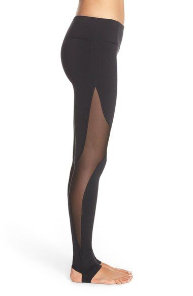 Free shipping and returns on Alo 'Coast' Mesh Inset Stirrup Leggings at Nordstrom.com. Sheer mesh insets bring modern appeal to these sleek workout leggings crafted with stirrup feet for a secure, comfortable fit.