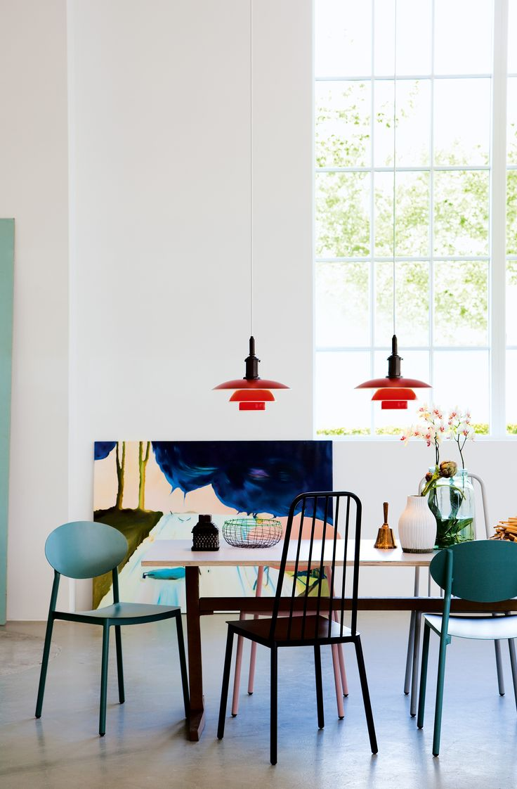 PH 3½-3 in red is a perfect way to put some color into your home.