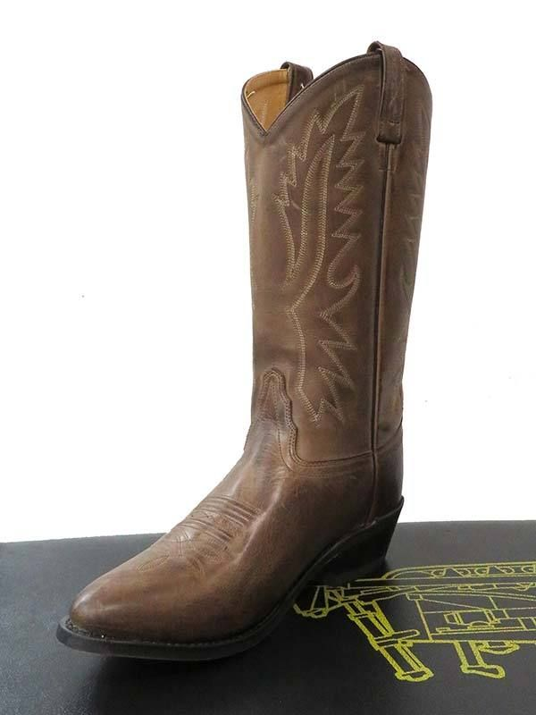 0ba942c6fa21 Old West Mens Chocolate Narrow Round Toe Western Boots OW2034 in ...