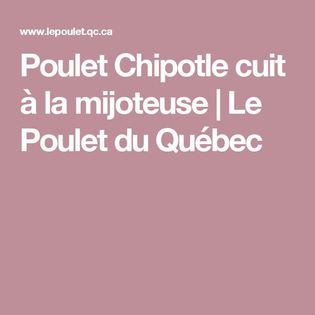 Poulet Chipotle cuit à la mijoteuse | Le Poulet du Québec
