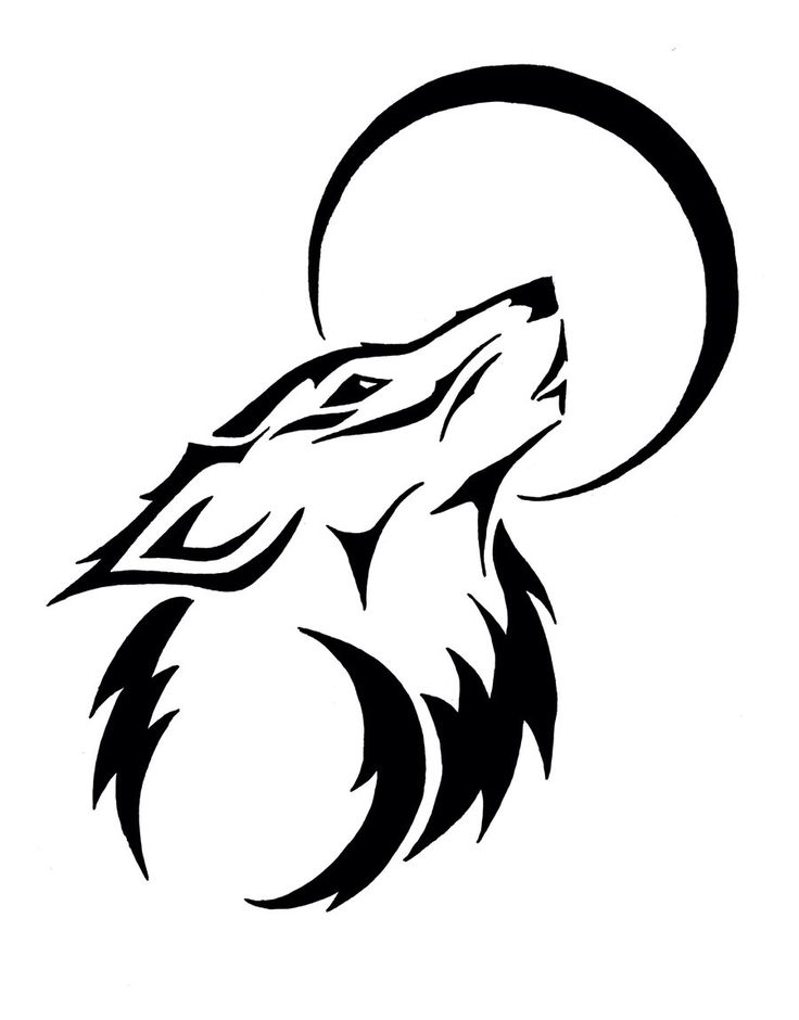 Wolf moon drawing