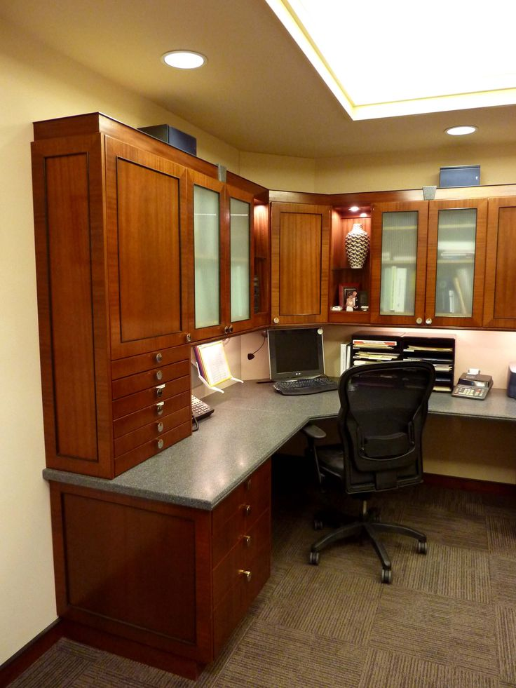 10 images about home office on pinterest modern desk - Home office cabinetry design ...