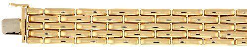 18k Yellow Gold 15.4mm Fancy Bracelet - 7.5 Inch - JewelryWeb JewelryWeb. $7049.20