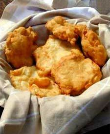 Bannock Bread Ingredients: 3 cups all-purpose flour 1 T baking powder 1