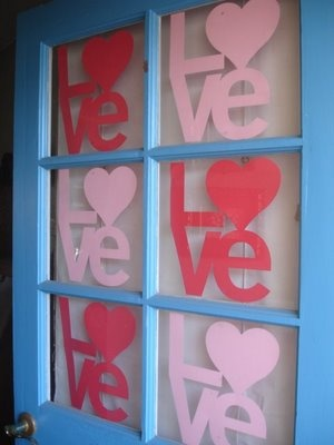 Door decor for Valentines