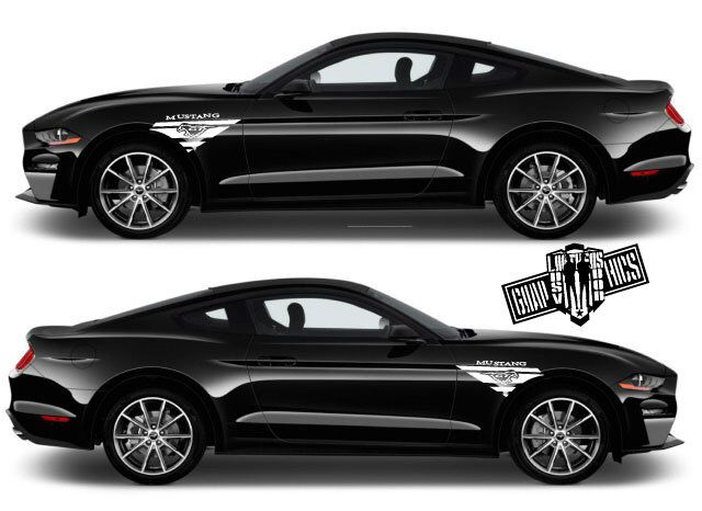 SHELBY COBRA MUSTANG GT350 GT-350 SIDE STRIPE LOGO LICENSE PLATE SET PAIR WHITE