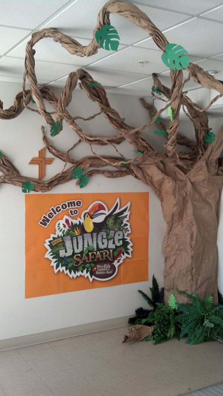 Our VBS Jungle Tree for advertisement at church.