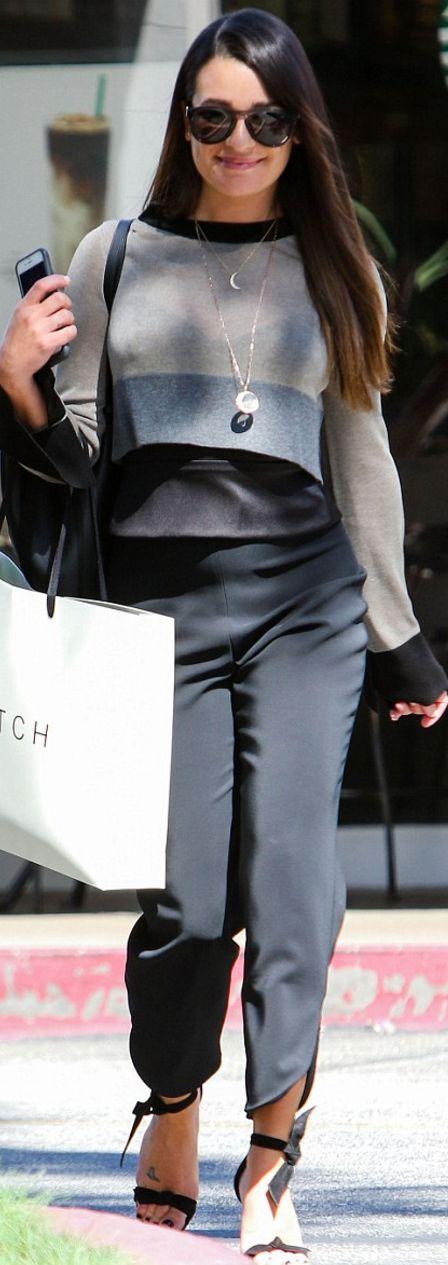 Lea Michele wearing Cushnie Et Ochs, Soyer, Westward Leaning and Alexandre Birman