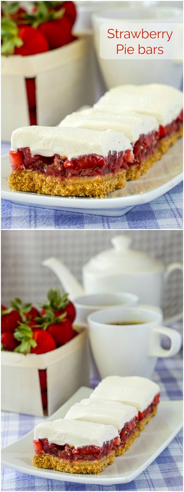 Strawberry Pie Bars – with no artificial colours or flavours. Our fresh strawberry pie filling meets a graham cracker crust in these easy to make dessert bars.