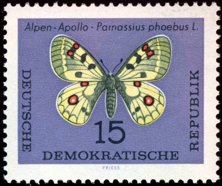 Stamp Art - German - Animal - Insect - Butterfly