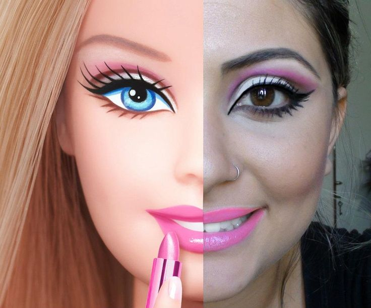 real life barbie makeup tutorial