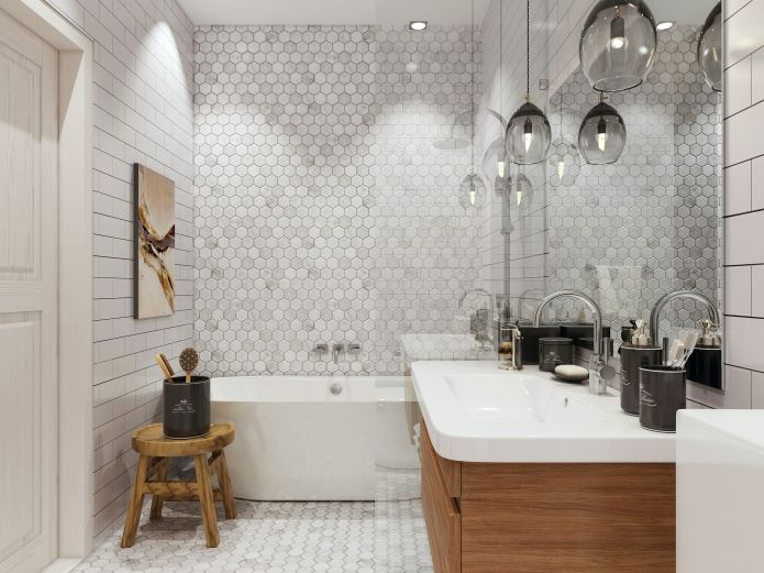 дизайн ванной комнаты в скандинавском стиле
