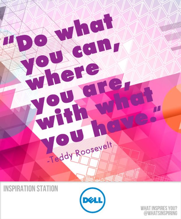 Do what you can, where you are, with what you have. -- Teddy Roosevelt