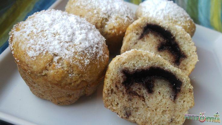 Kakaóval töltött muffin