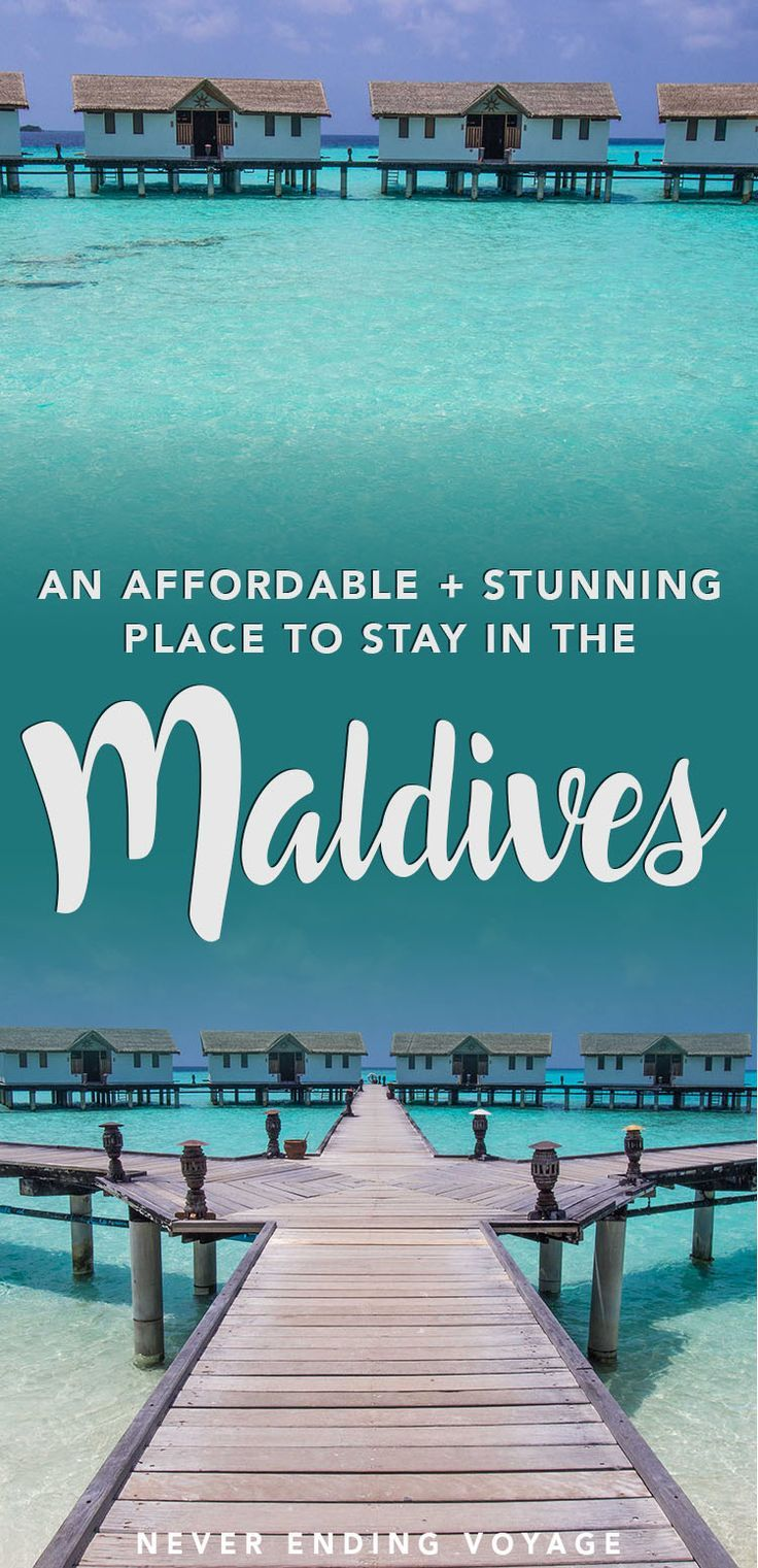 The Maldives over water villas and bungalows are almost as famous as the islands themselves! Here's what it's like to stay in one of these dreamy resorts. #maldives