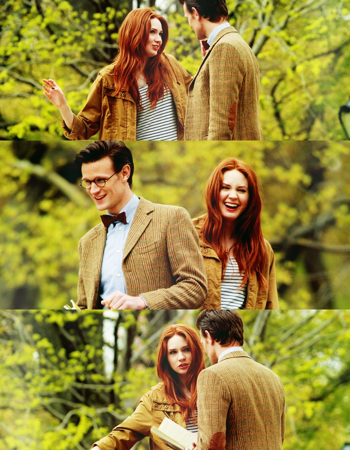 Matt Smith, Karen Gillian, last day of filming. Excuse me while I go sob in the corner.