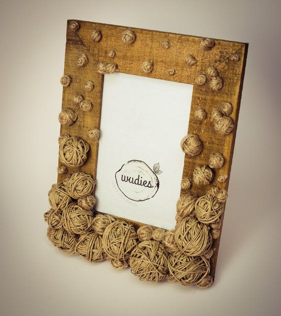 Pellet picture frame by Wudies on Etsy