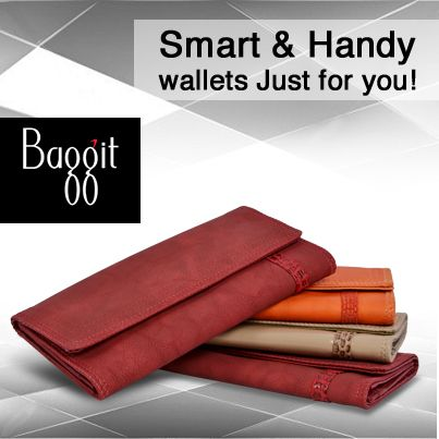Stay well-equipped always by getting your own fashionable wallet at www.baggit.com