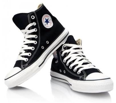Converse a/s hi-top in Black. Also available in infant sizing.