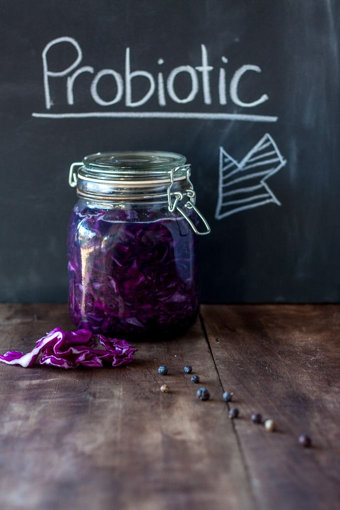 Red Cabbage Sauerkraut Recipe- Is an easy way to get good bacteria into your belly to make you healthier theeasyhealthyway.com