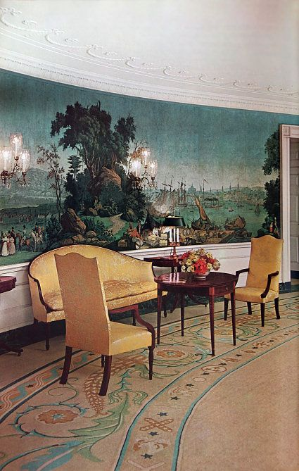 White House: The Diplomatic Reception Room around 1963 (White House Historical Association)