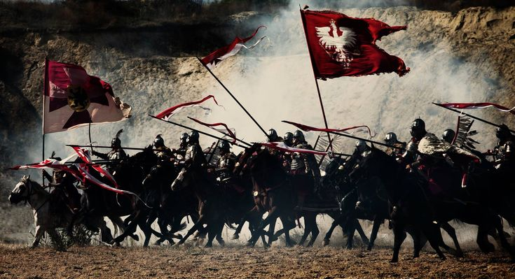 The last thing many foreign armies saw - Polish Winged Hussars. Heavy cavalry charge at the banks of the Vistula, Gniew, Poland.