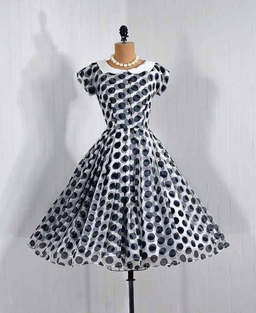 1950's vintage polka-dot dress.