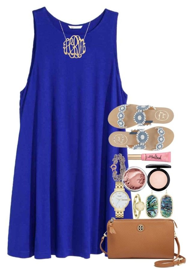 """day 5//dinner"" by thefashionbyem ❤ liked on Polyvore featuring Tory Burch, Kendra Scott, Kate Spade, MAC Cosmetics, Bare Escentuals, Too Faced Cosmetics, J.Crew, Jack Rogers and lydscruise2016"