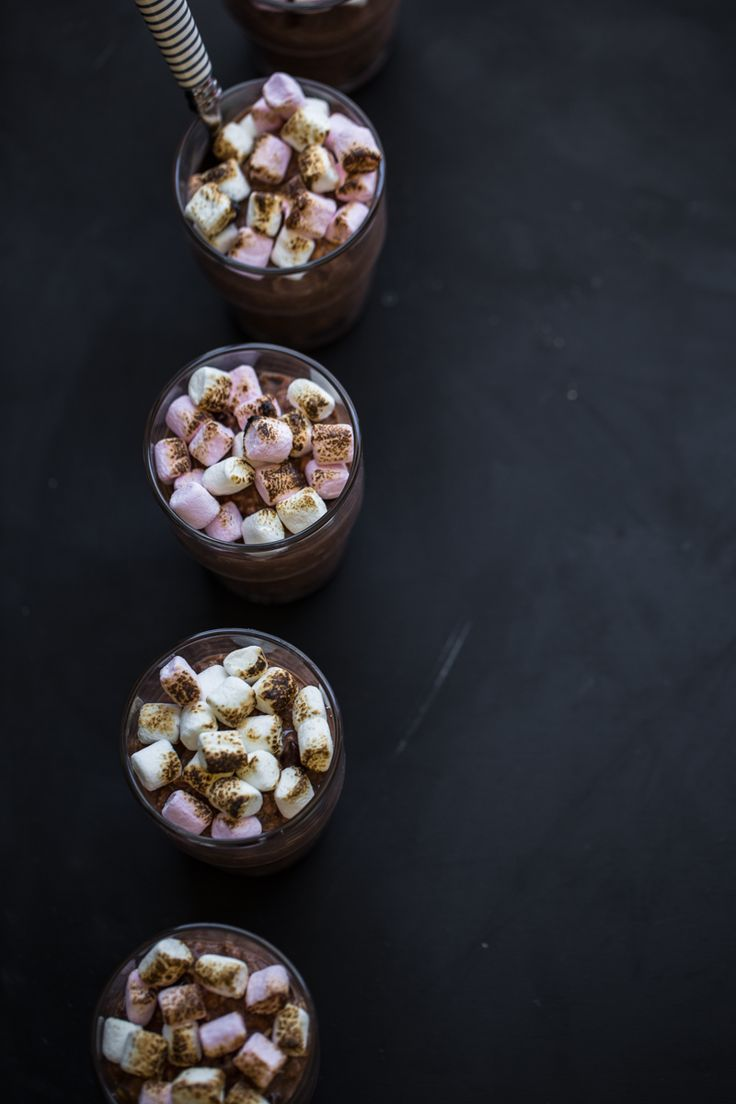 Chocolate Bircher Muesli Cups With Toasted Marshmallow - Cook Republic