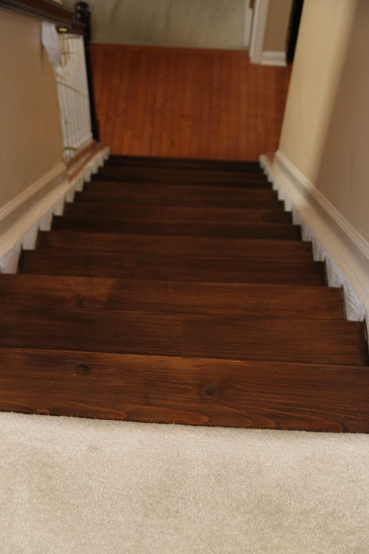 Best How To Stain Pine Stairs Diy Stair Railing Stair 400 x 300